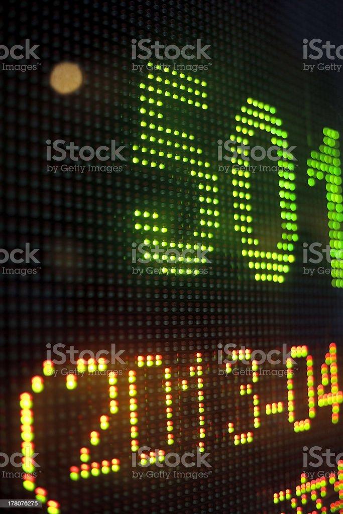 Bank of display royalty-free stock photo