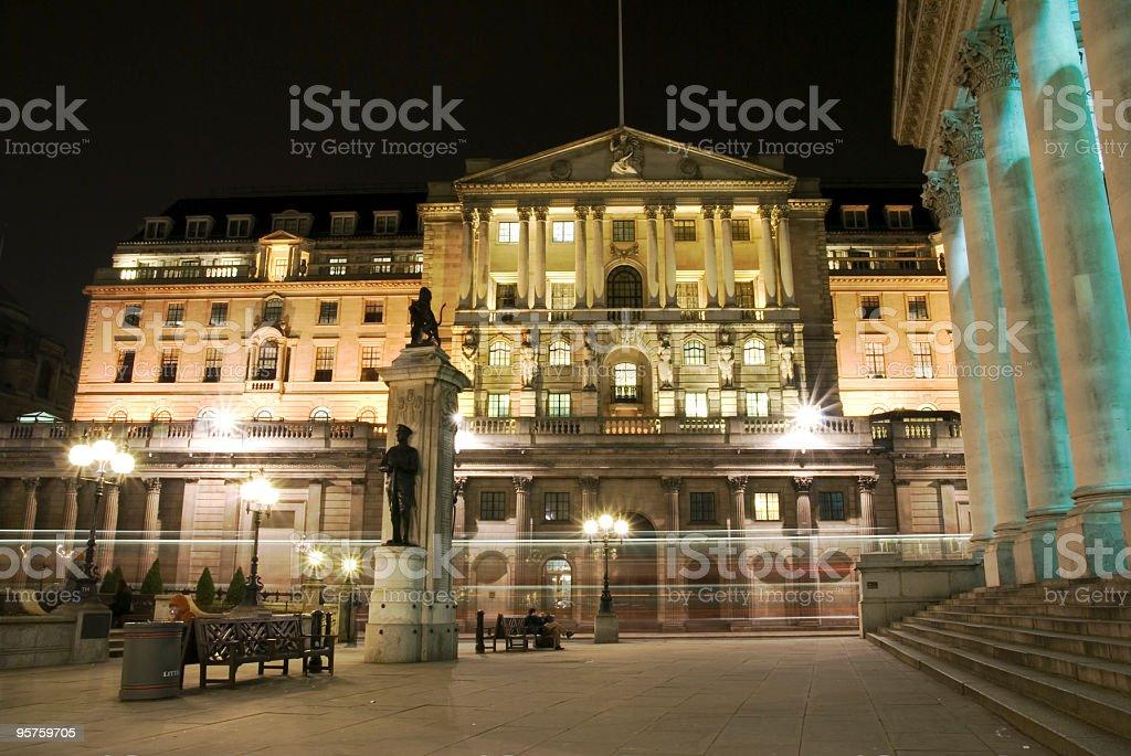 Bank of England and Royal Exchange,London. royalty-free stock photo