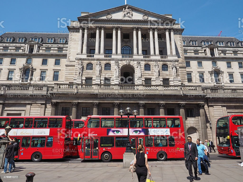 Bank of England in London stock photo