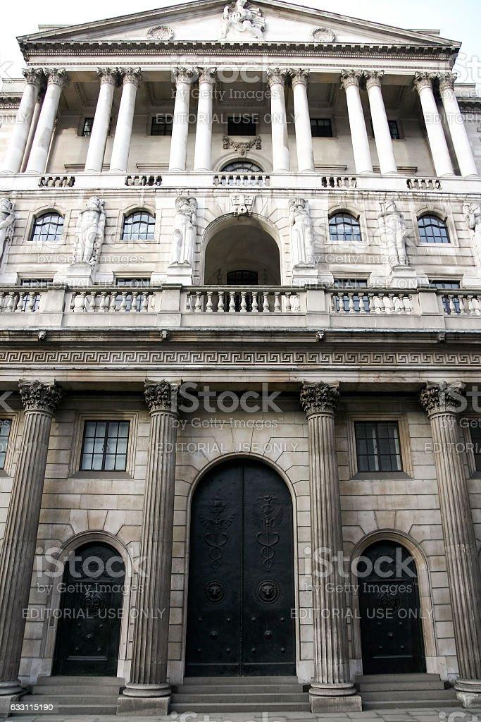 bank of england london uk stock photo
