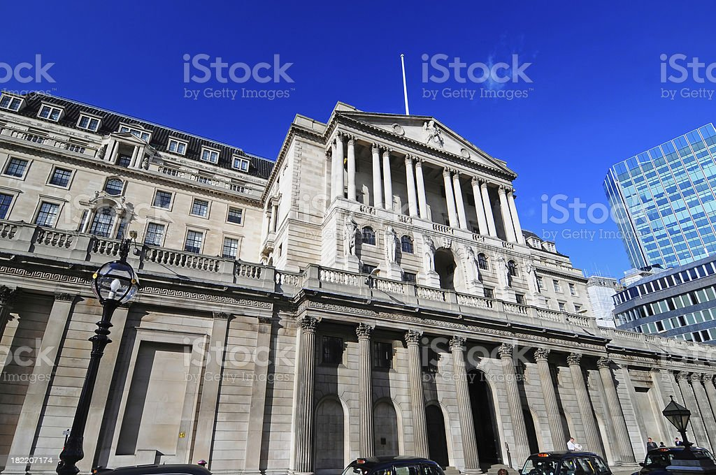 Bank of England royalty-free stock photo