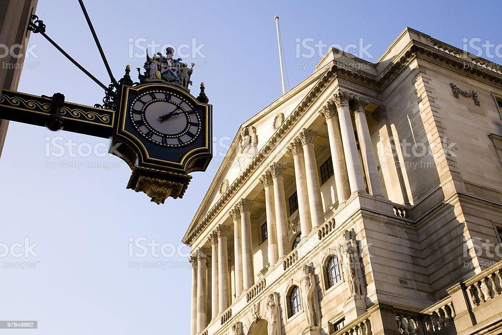 Bank of England Time stock photo