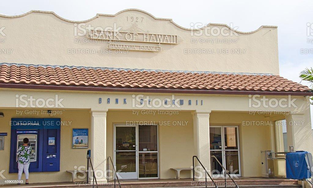 Bank of Hawaii, Honokaa stock photo