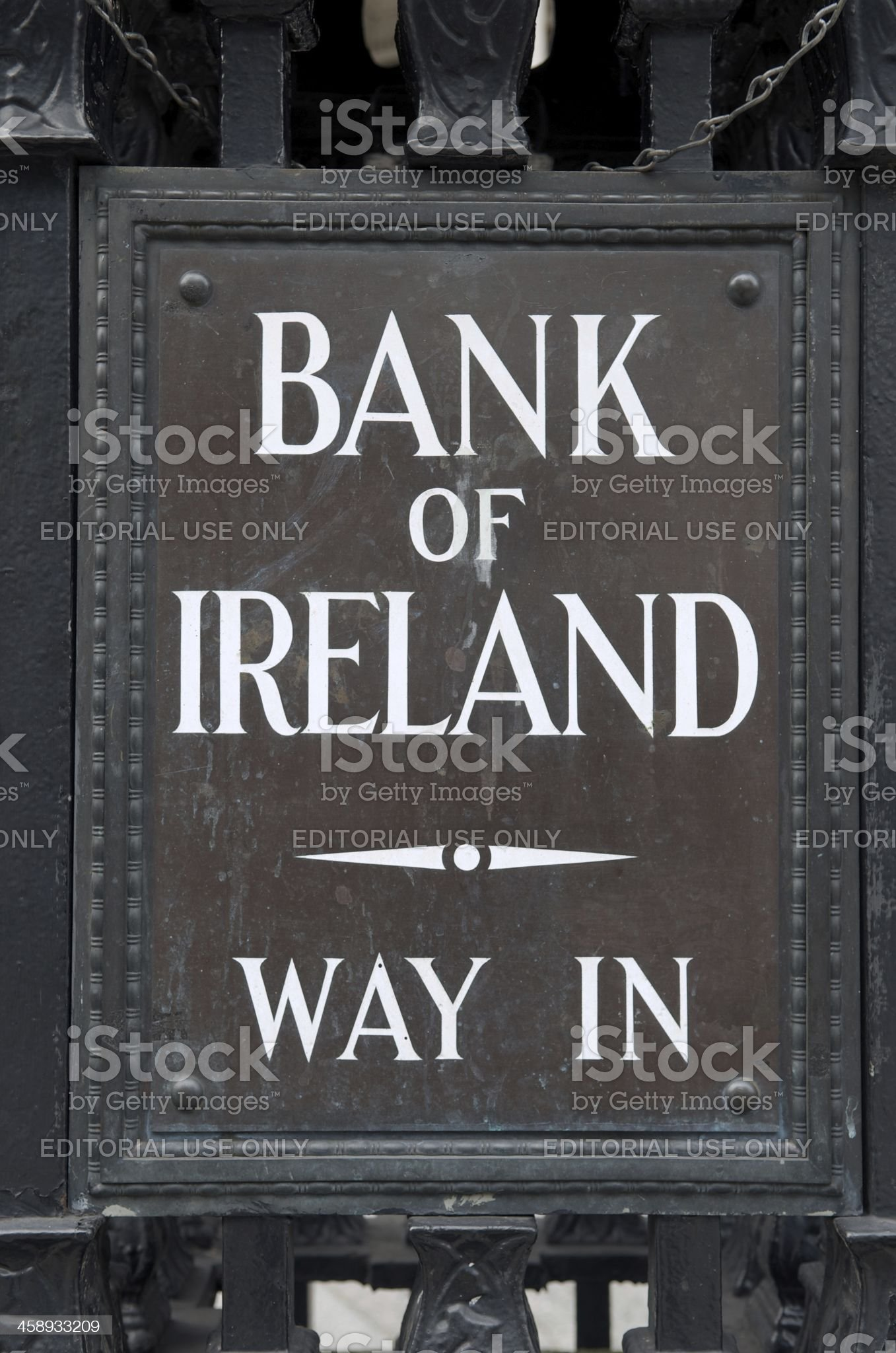 Bank of Ireland Way In sign royalty-free stock photo