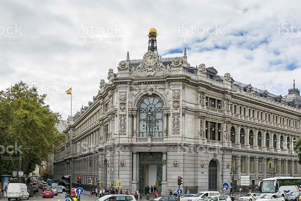 Bank of Spain, Madrid stock photo