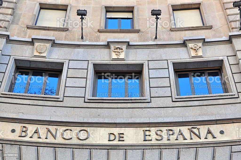 Bank of Spain stock photo