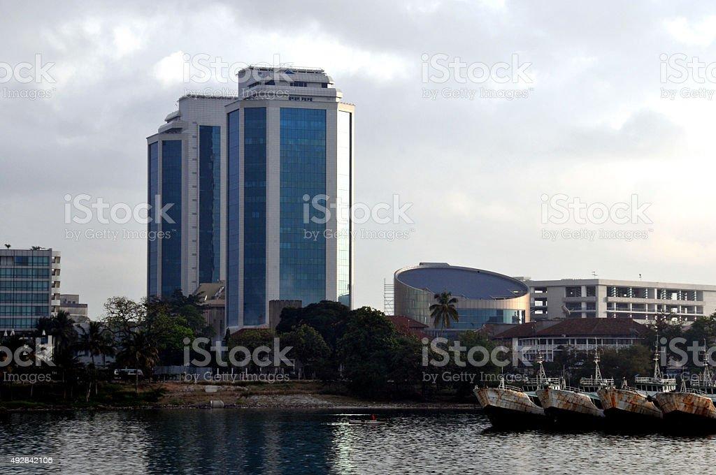 Bank of Tanzania's twin towers, Dar Es Salaam stock photo