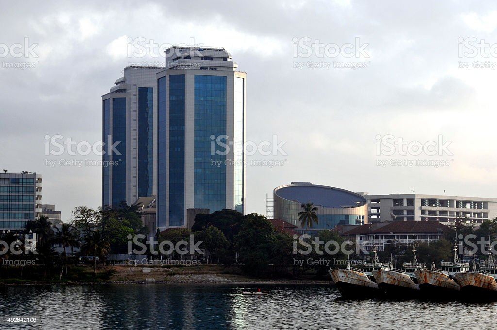 Bank of Tanzania's twin towers, Dar Es Salaam stock photo