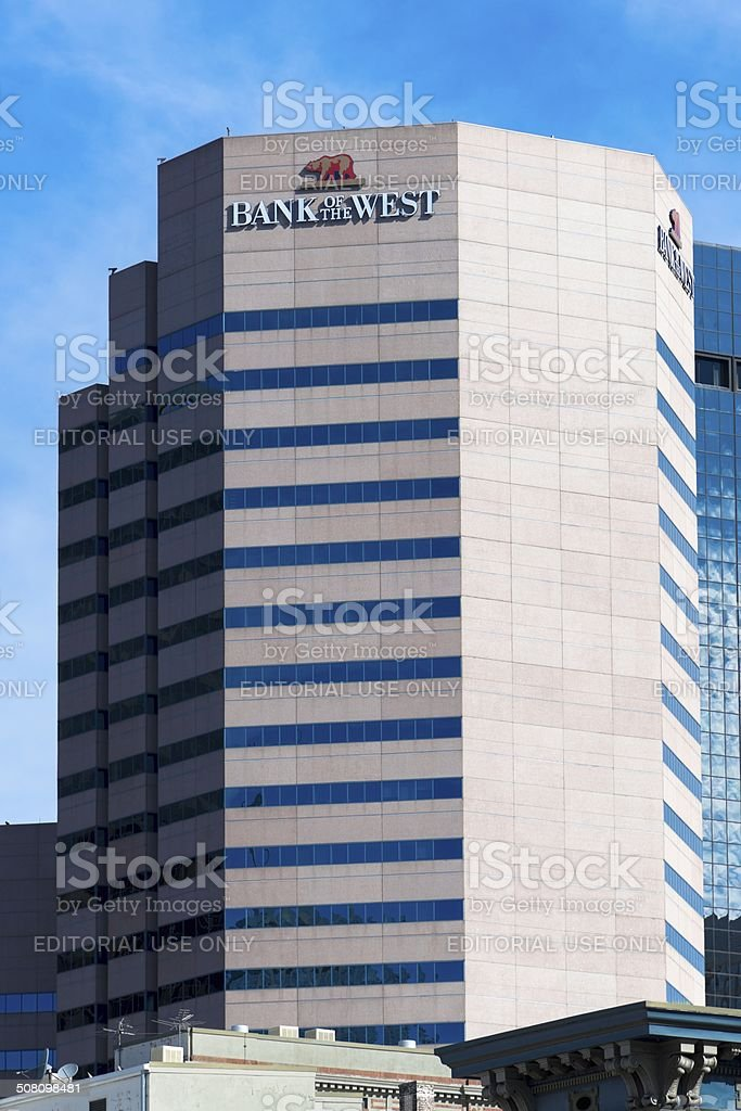 Bank of the West, Colorado stock photo