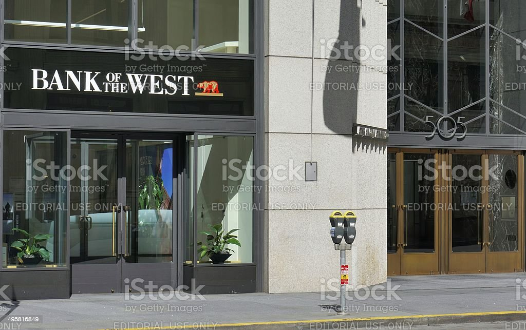 Bank of the West royalty-free stock photo