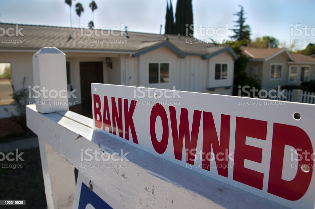 Bank Owned Sale stock photo
