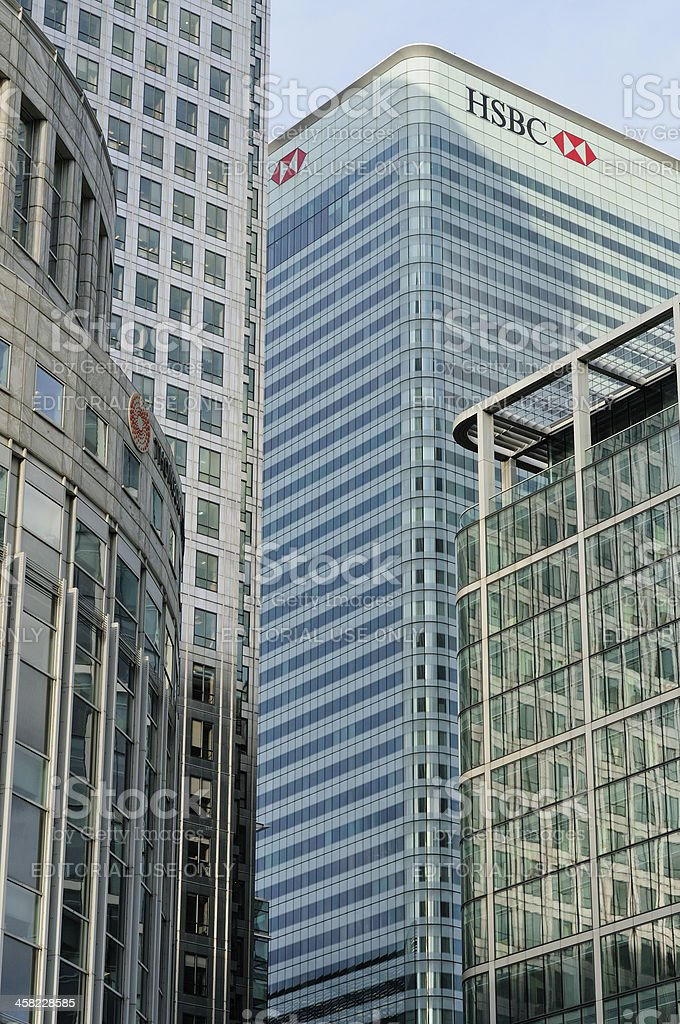 HSBC bank royalty-free stock photo