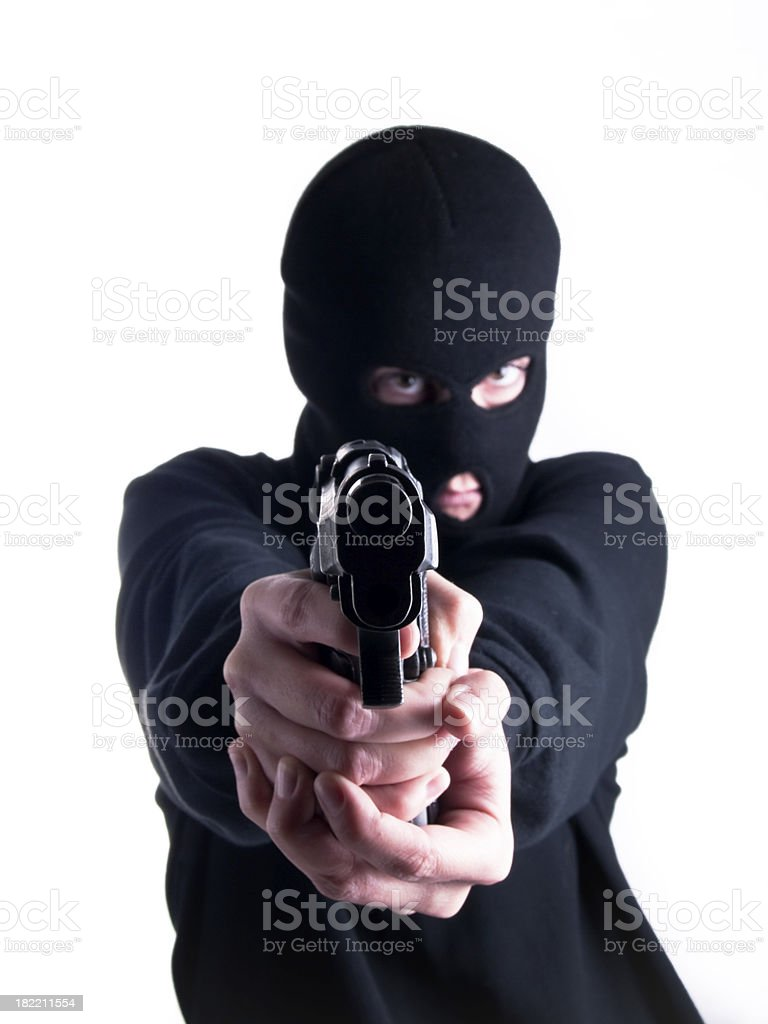 Bank robber royalty-free stock photo