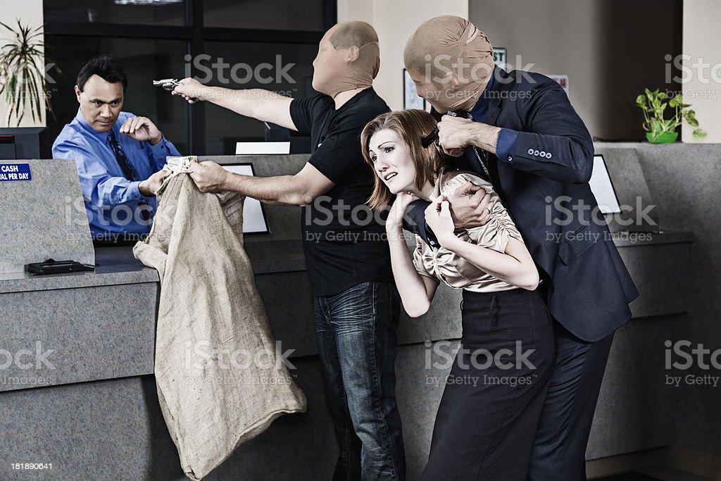 Bank Robbers stock photo