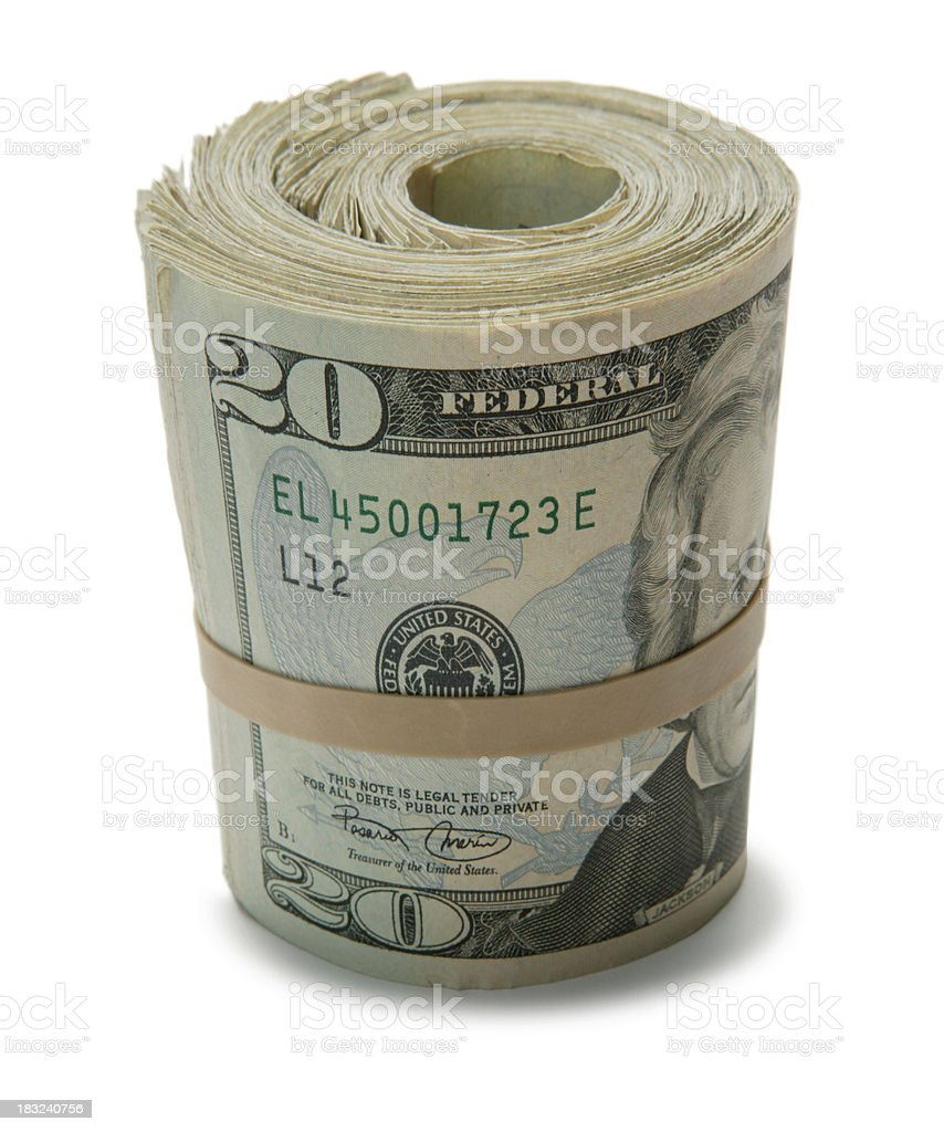 Bank Roll 3 royalty-free stock photo