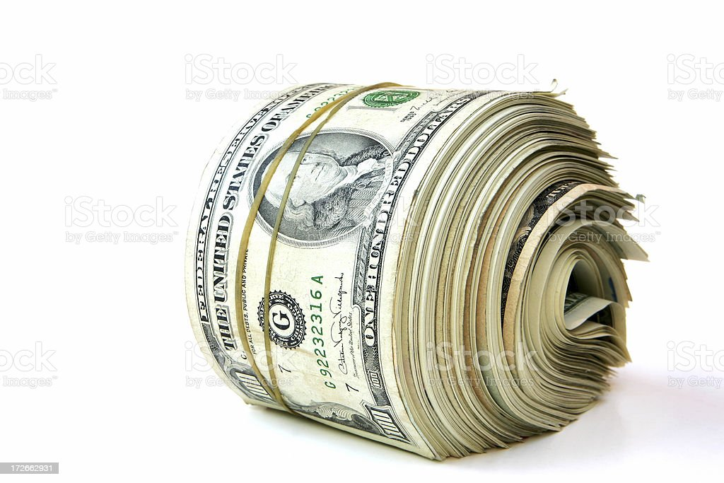 Bank Roll - Old Style royalty-free stock photo