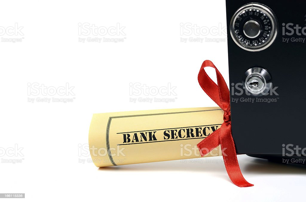 Bank secrecy royalty-free stock photo