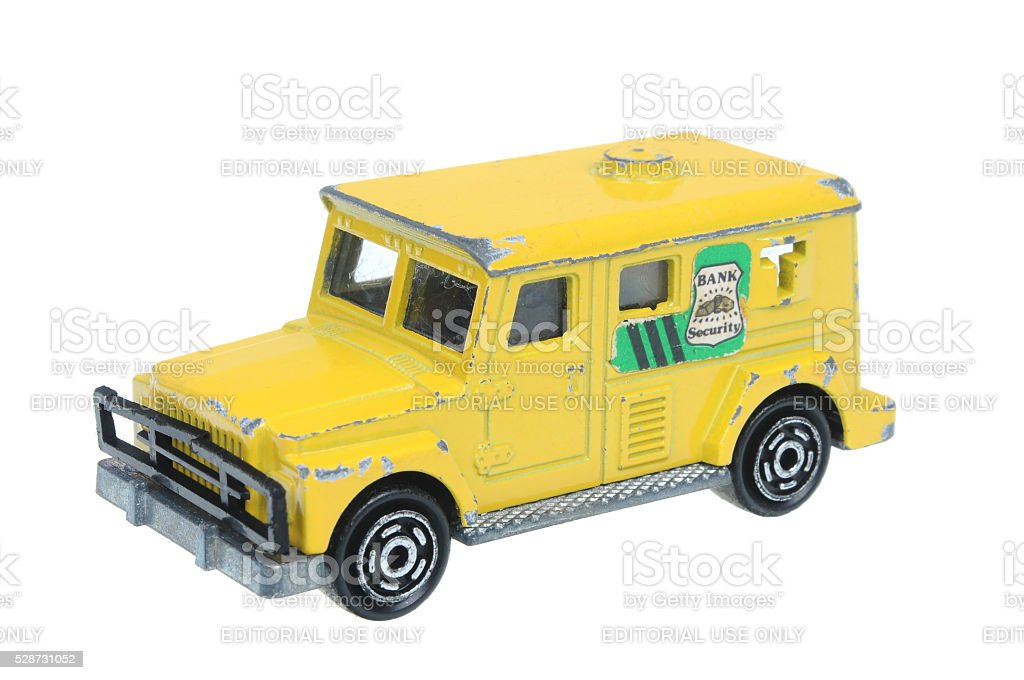 Bank Security Majorette Diecast Toy Car stock photo