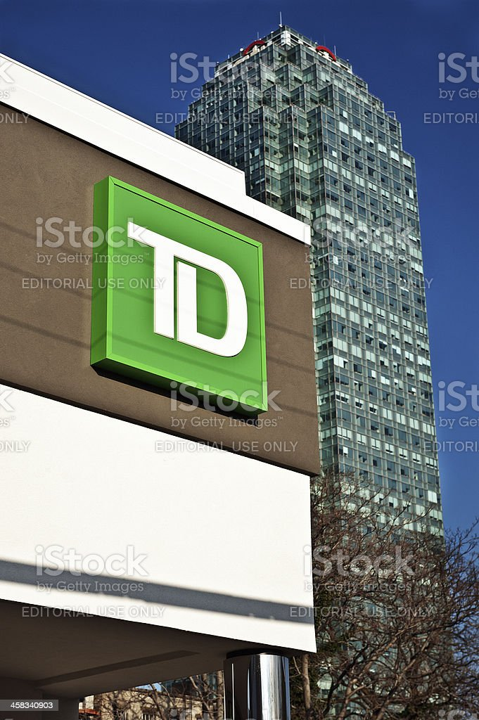 TD Bank Sign in New York CY stock photo