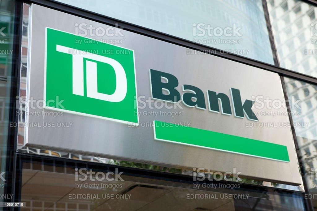 TD Bank Sign Manhattan stock photo