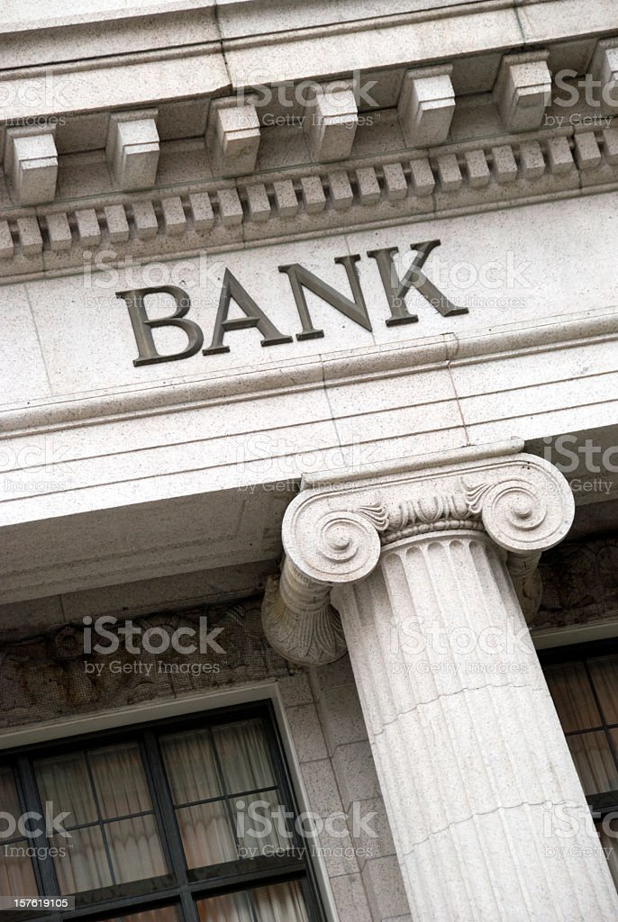 Bank Sign royalty-free stock photo