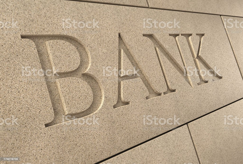 Bank sign royalty-free stock photo