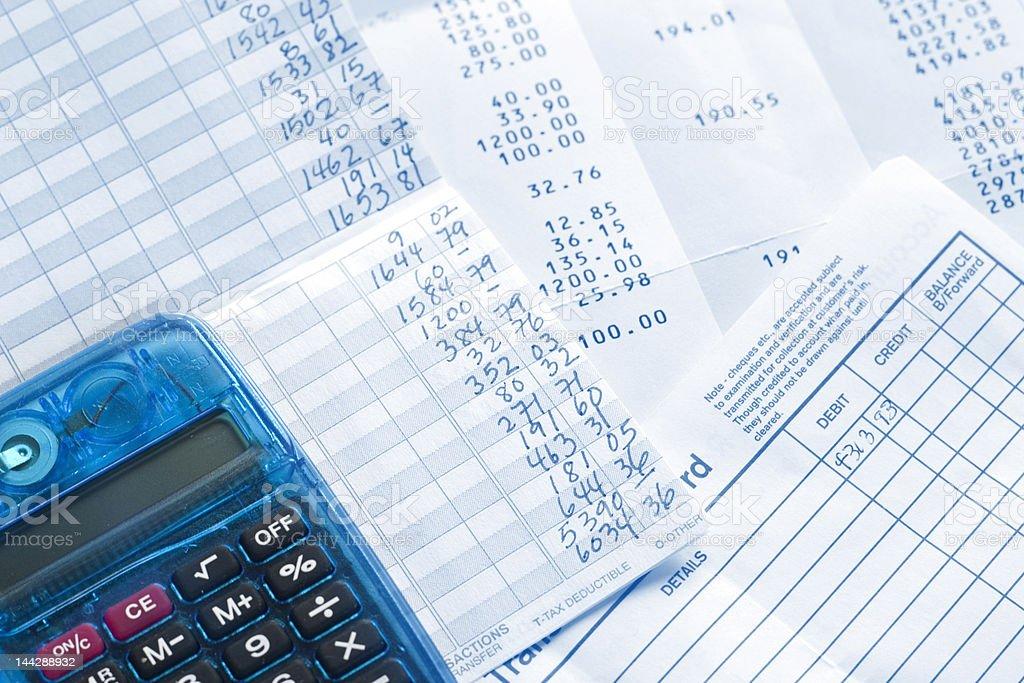 Bank Statement, Balancing Checkbook stock photo