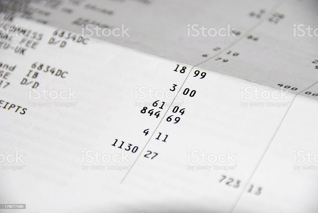 Bank Statement royalty-free stock photo