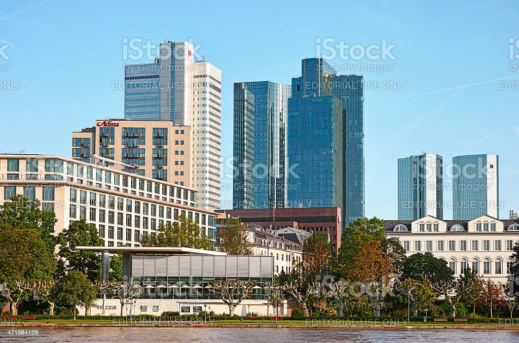 Bank Towers of Frankfurt stock photo
