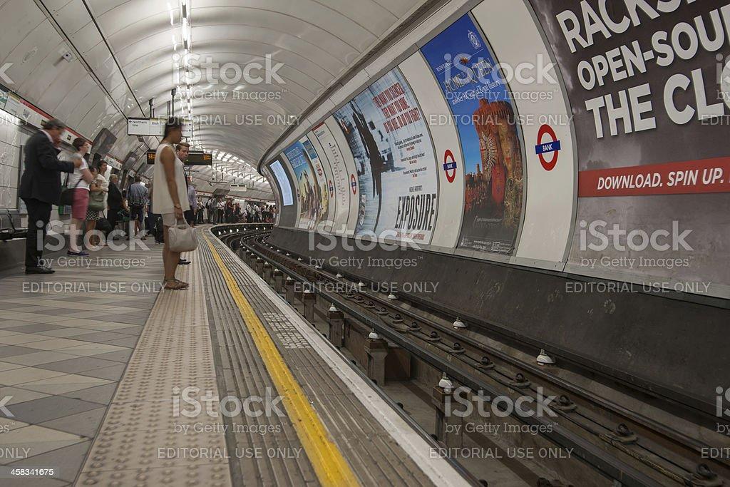Bank Tube station. royalty-free stock photo