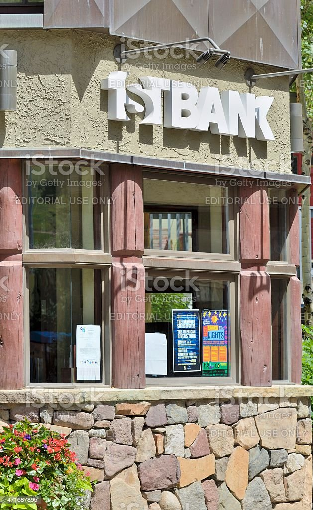1ST Bank, Vail, Colorado stock photo