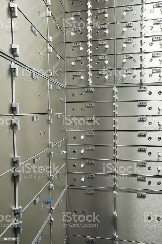 Bank vault corner royalty-free stock photo