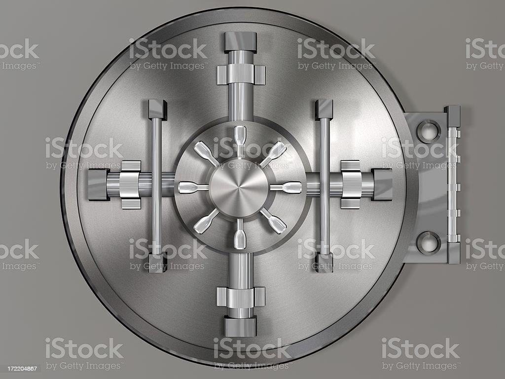 Bank Vault Door (3D) royalty-free stock photo