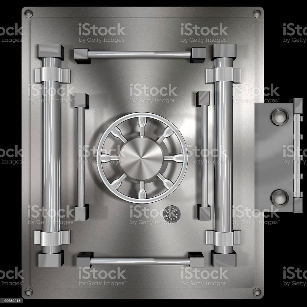 Bank Vault Square (Clip Path) royalty-free stock photo