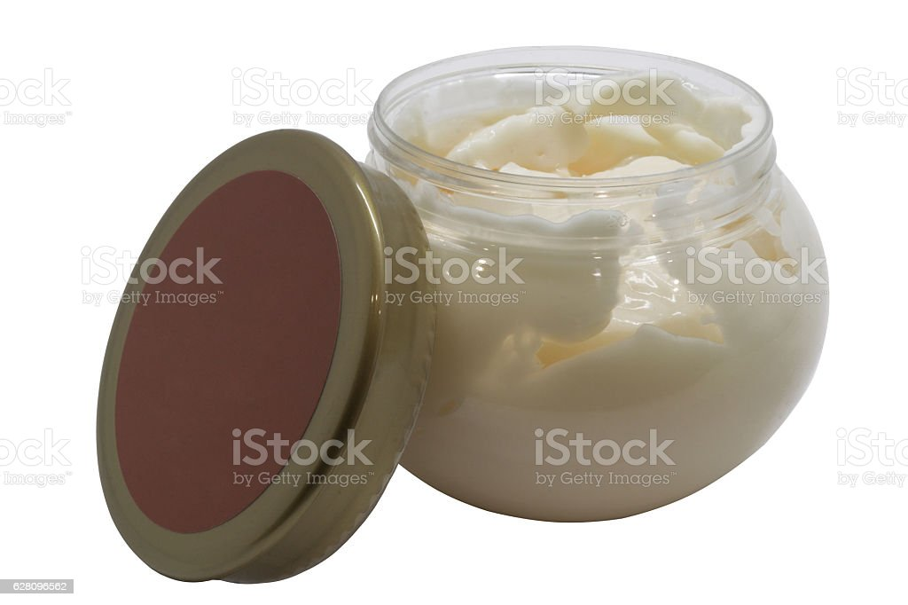Bank with white cream stock photo
