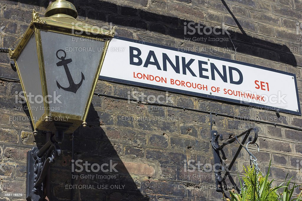 Bankend in Southwark, London royalty-free stock photo