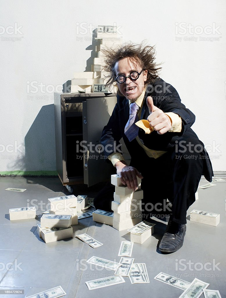 Banker and money royalty-free stock photo