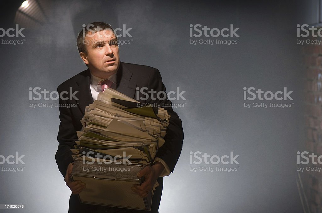 banker running scared royalty-free stock photo