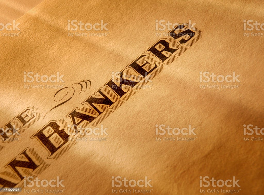 Bankers royalty-free stock photo