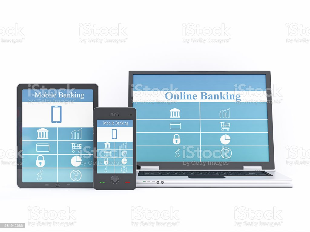 Banking Application Concepts stock photo