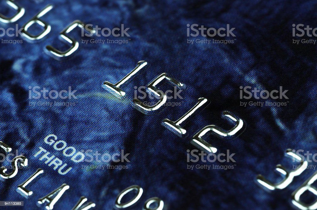 banking card in macro stock photo