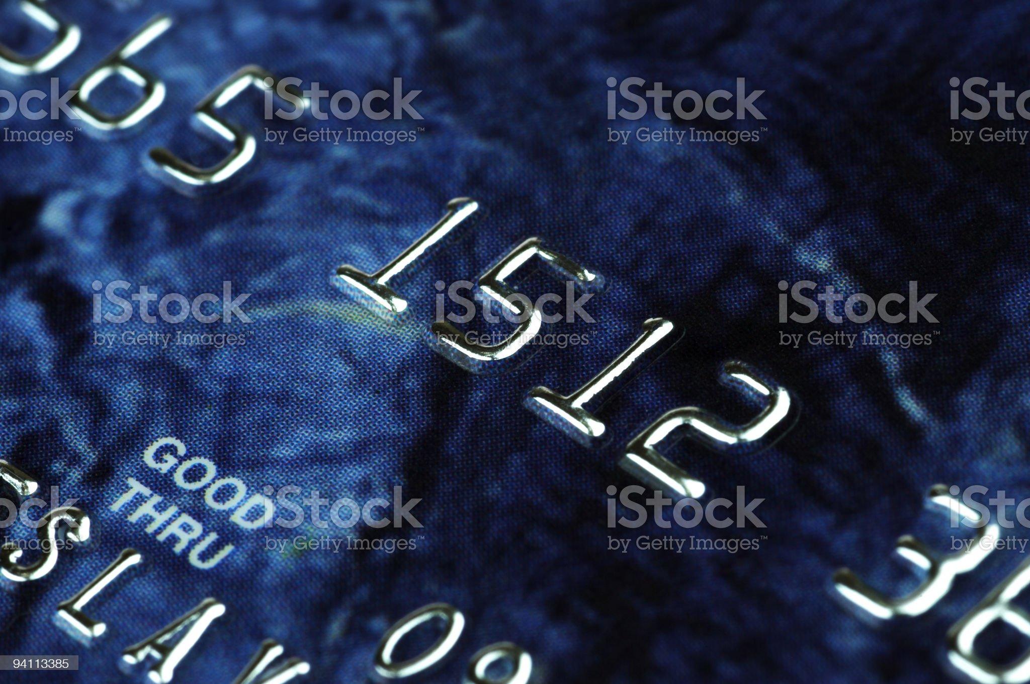 banking card in macro royalty-free stock photo
