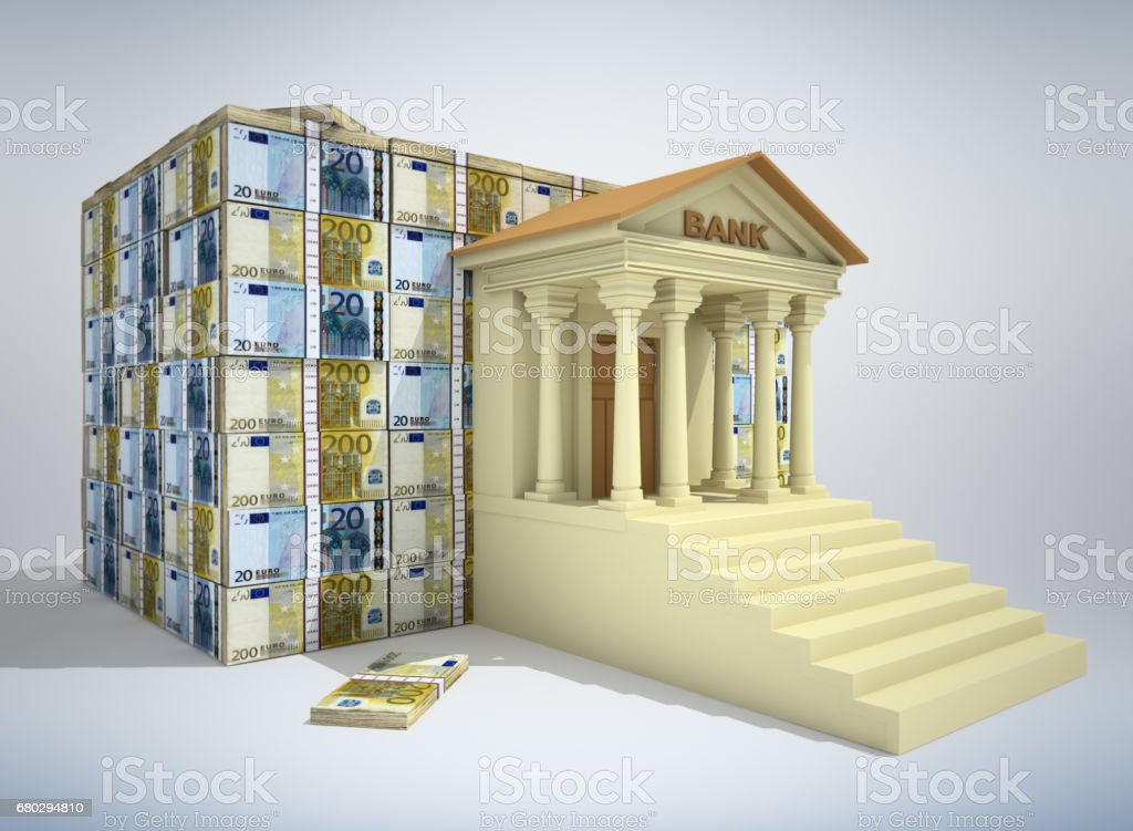 Banking concept 3D stock photo