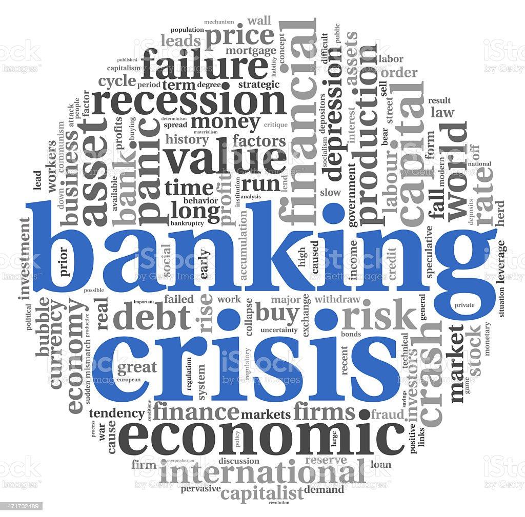Banking crisis concept on white stock photo