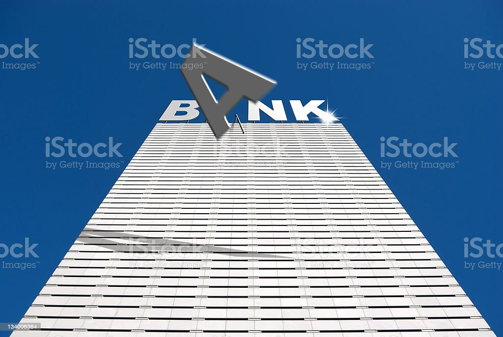 Banking financial collapse stock photo