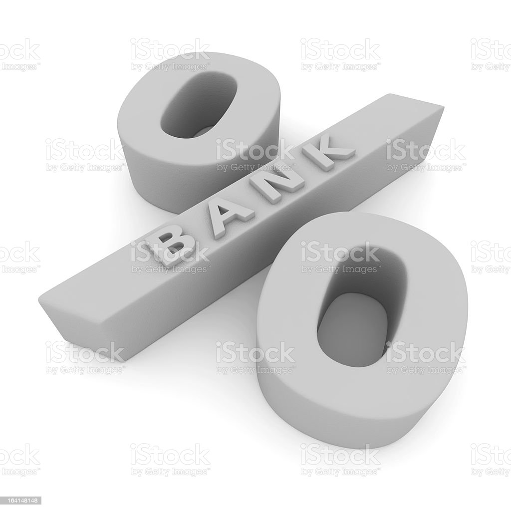 Banking interest rate royalty-free stock photo