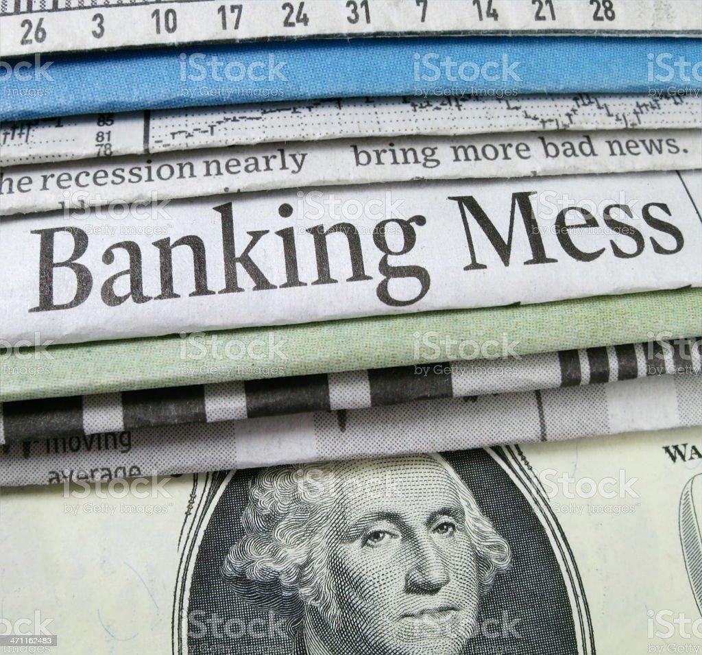 Banking Mess stock photo