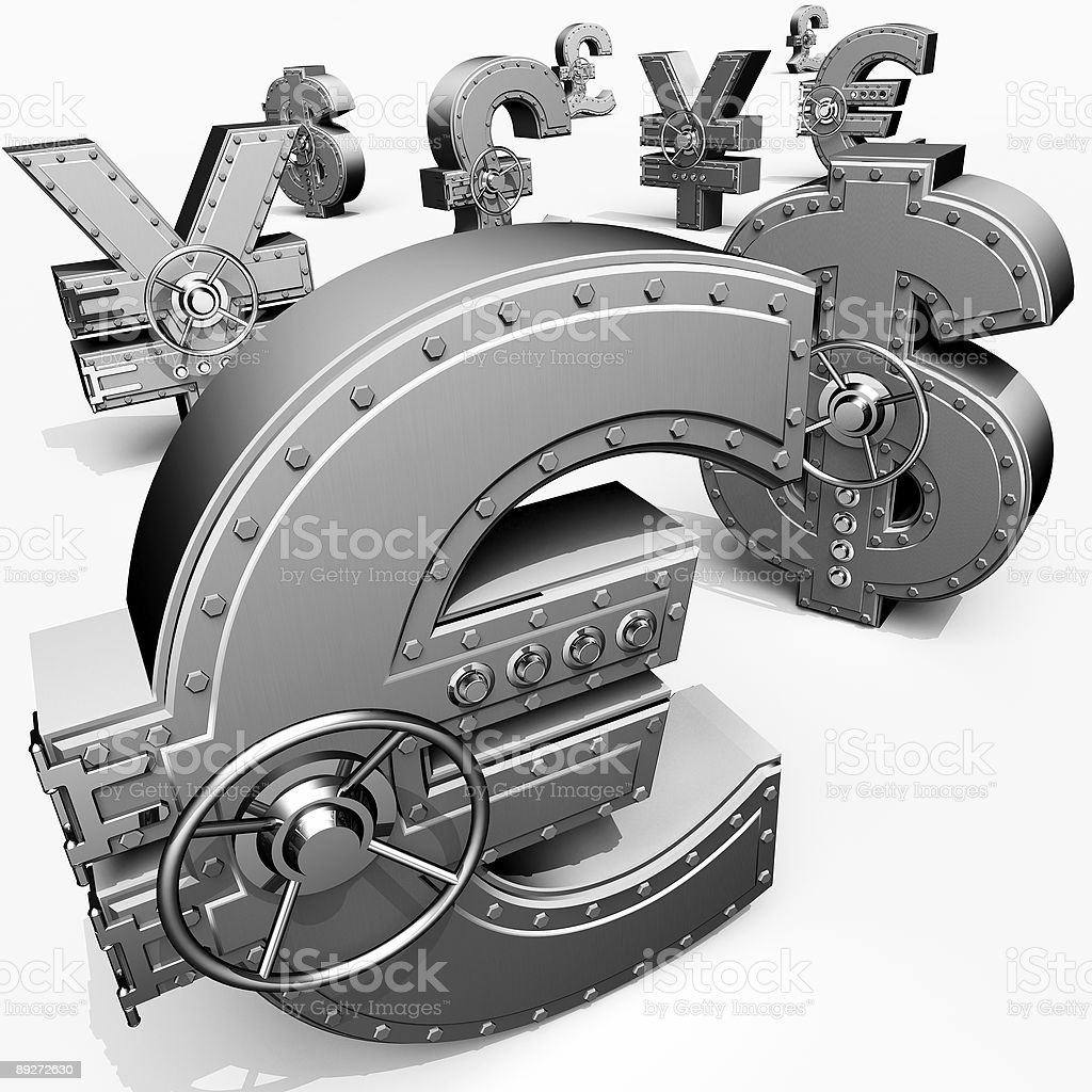 Banking safes royalty-free stock vector art