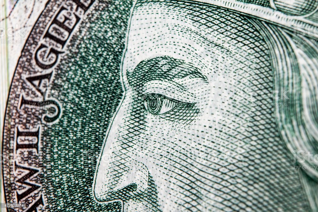 Banknote 100 PLN stock photo