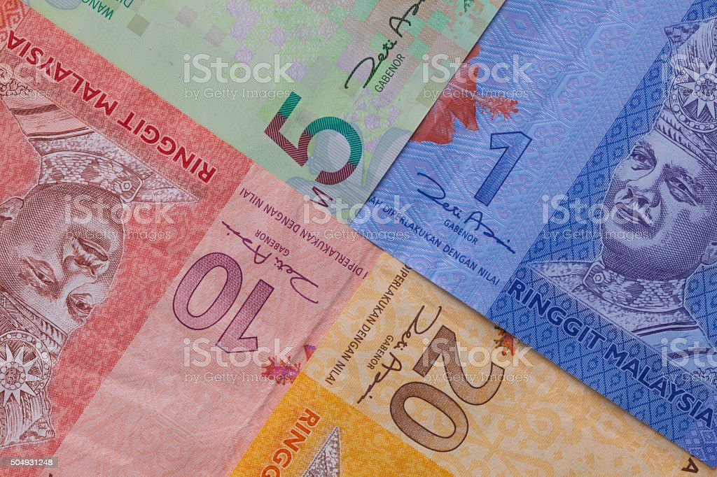 Banknote of  Ringgit of Malaysia stock photo